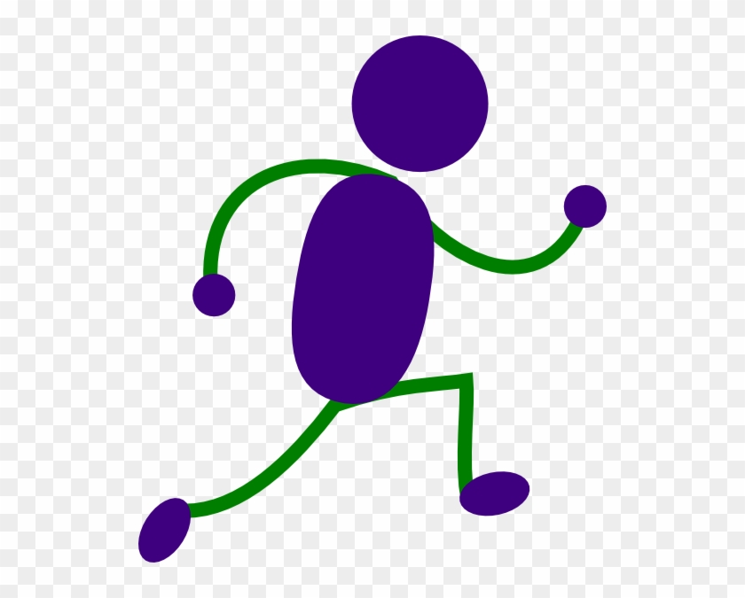 Cartoon Running Man - Running Feet Clip Art #61100