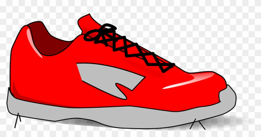 Purple Tennis Shoes Clip Art - Clip Art Of Shoe #61211