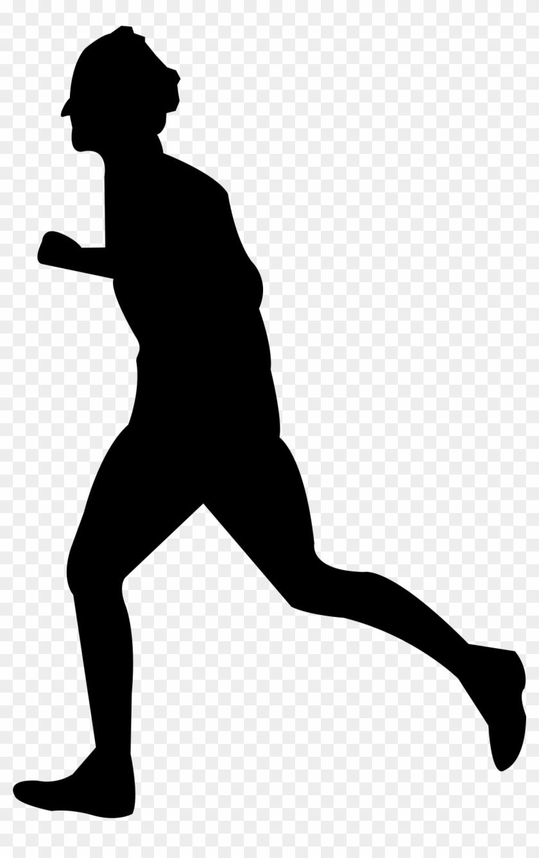 Running - Person Running Silhouette Transparent #61254