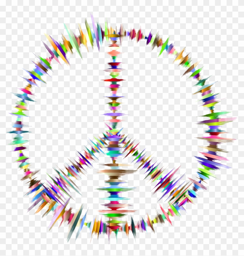 Sound Waves Peace Sign - Peace Sign Gif Transparent #61284