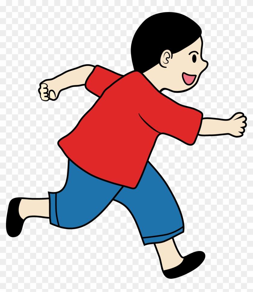 Clipart Of A Little Boy Running - Laufen, Zum Der Verrücktheit Aufzubrauchen Fotoplatte #61332