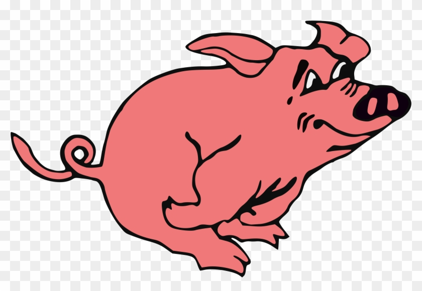 Pig Running Clipart #61338