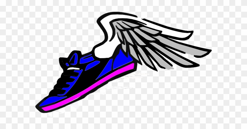 Running Shoes With Wings Clipart - Running Shoes With Wings Clipart #61339