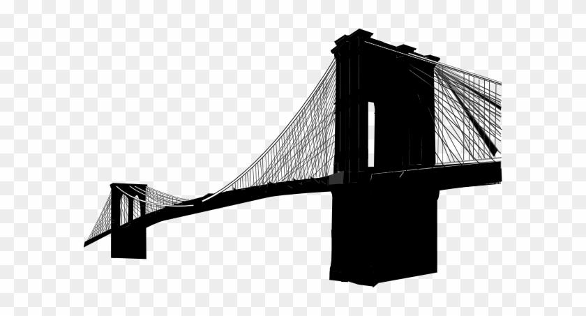 Brooklyn Bridge Only Clip Art At Clker - Brooklyn Bridge Silhouette Vector Free #61379