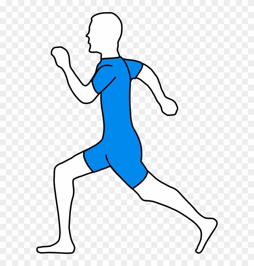 Man Athlete Jogging - Running Man Clip Art #61426