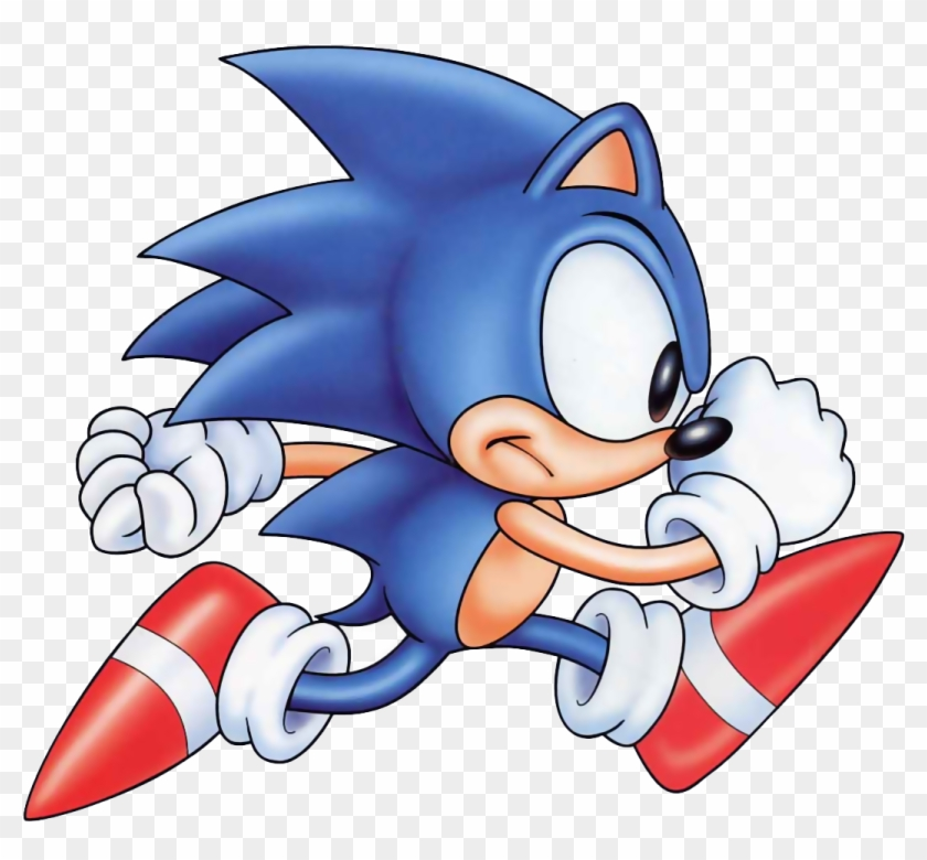 Sonic The Hedgehog Old Sonic Running Free Transparent Png Clipart Images Download
