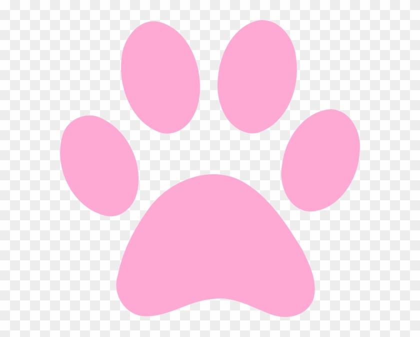 Pink Dog Paw Print #61569