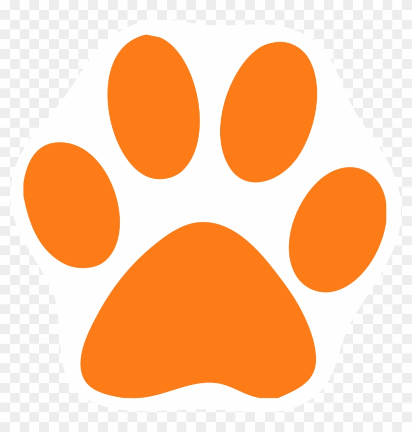 Incredible Paw Clipart Free Orange Cat Pictures Download - Dog Paw Print #61579