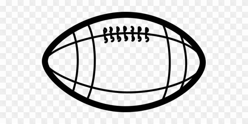 American Football Football Egg Ball Sports - Football Clipart Black And White #61625