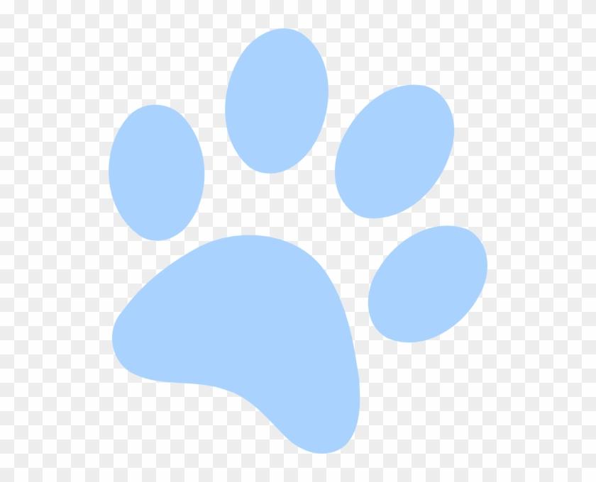 Blue Paw Print Clip Art - Paw Print With Black Background #61628