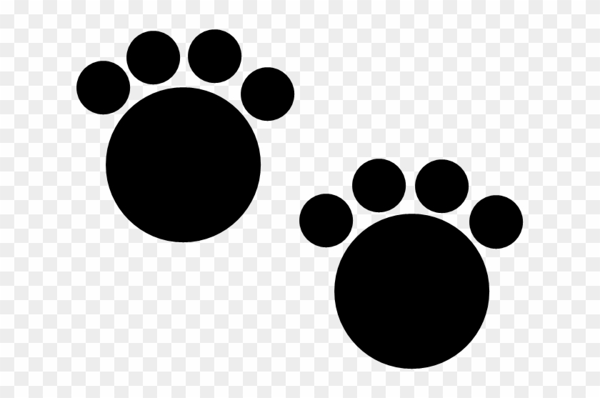 These Cute Circular Black Paw Prints Could Belong To - Circle Paw Print #61663
