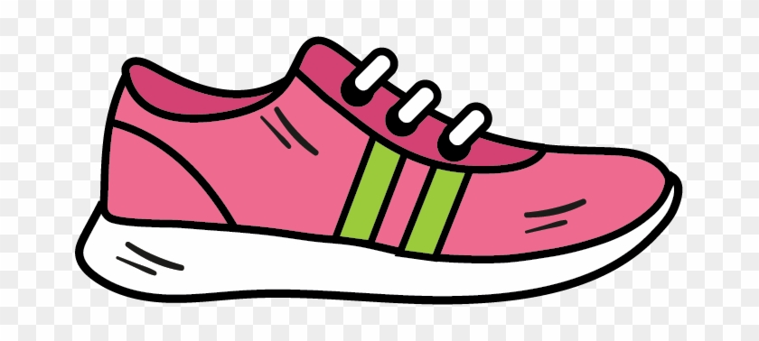 Athletic Shoe Icon, Fitness Clipart, Shoe Clipart - Pink Running Shoe Clipart #61667