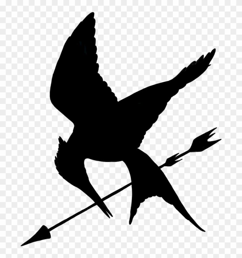 Minimalist Mockingjay With Arrow By Allheartsgoboom - Stare At The Dot #61691
