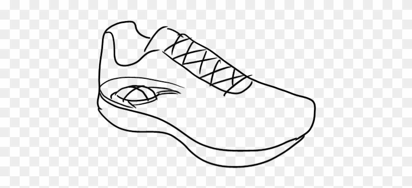 Running - Shoes - Drawing - Running Shoes Drawing Easy #61689