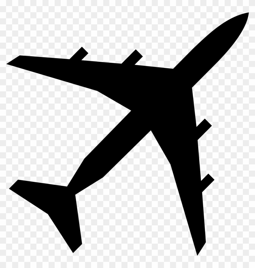 Free Stencils For Airplanes Fileairplane Silhouette - Airplane Png #61704
