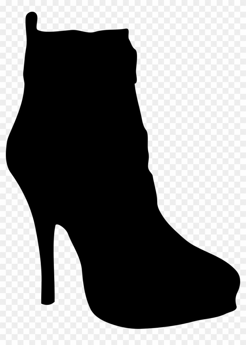 Running Shoe Silhouette Png Womens 20shoes 20clipart - Shoes Silhouette #61744