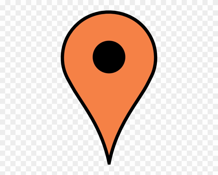 Light Orange Pin Clip Art At Clker - Stecknadel Map #61791