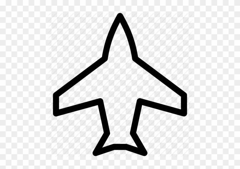 Plane Outline Free Download Clip Art On Airplane Shape - Jet Plane Outline #61804