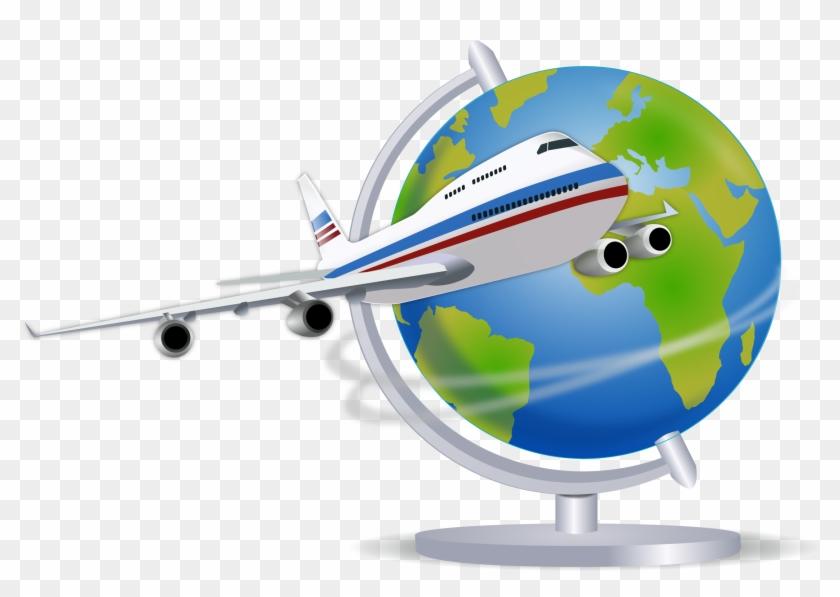 Airplane Clipart Photos Support - World Traveler Shower Curtain #61830