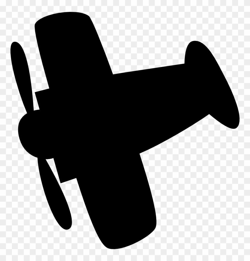 Airplane Silhouette Clip Art - Clipart Airplane Silhouette #61850