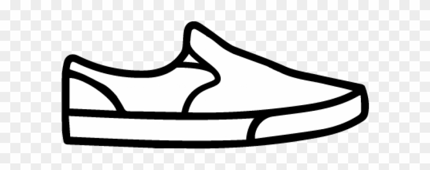 Loafers & Slip-ons - Home Shoe Clipart Black And White #61888