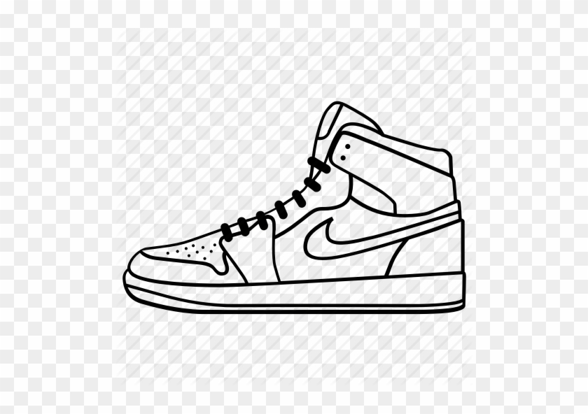 Footwear, Keds, Nike, Run, Shoe, Shoes, Sneaker Icon - Nike Shoe Drawing #61908