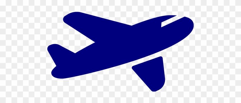 Airplane Clipart Dark Blue - Airplane Icon Black And White #61923