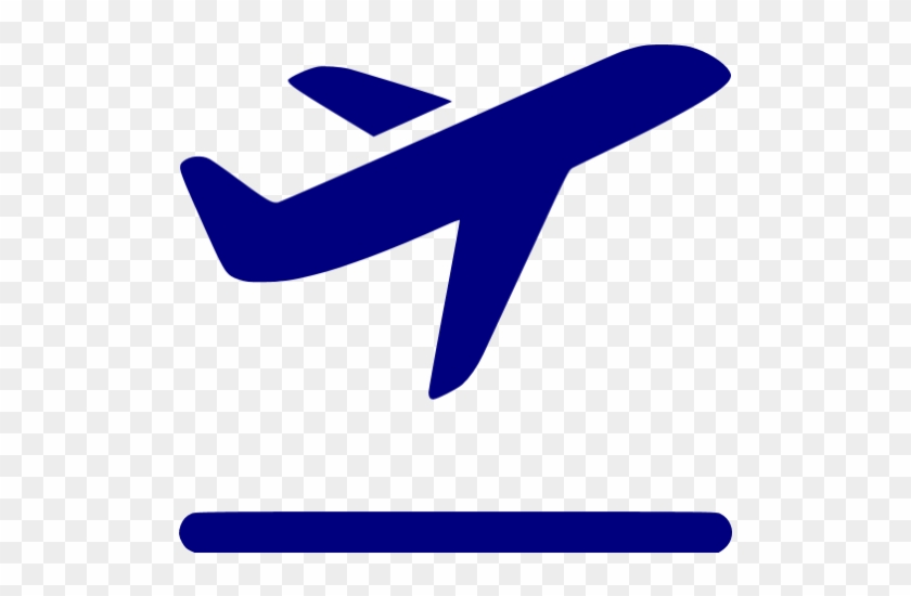 Airplane Clipart Dark Blue - Airplane Icon Blue #61952