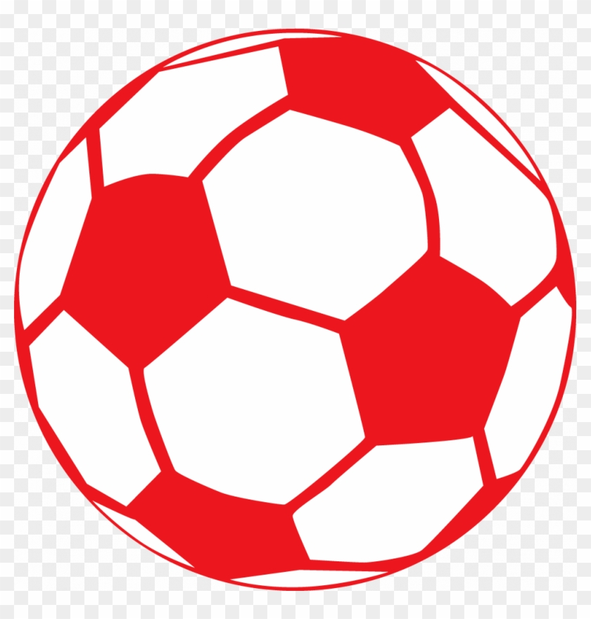 Red Soccer Ball Clip Art - Soccer Ball Drawing Colorful #61965