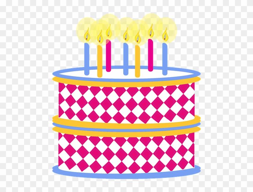 Clipart Geburtstag Kuchen Bunte Geburtstagstorte - Clip Art Png Hoa #61993