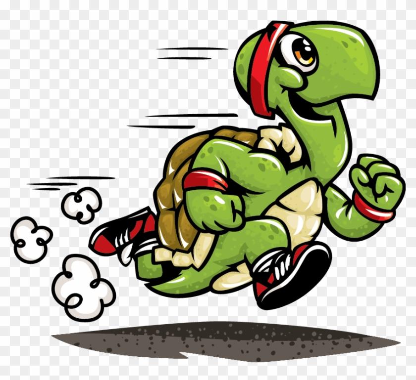 Running Turtle Cartoon #62016