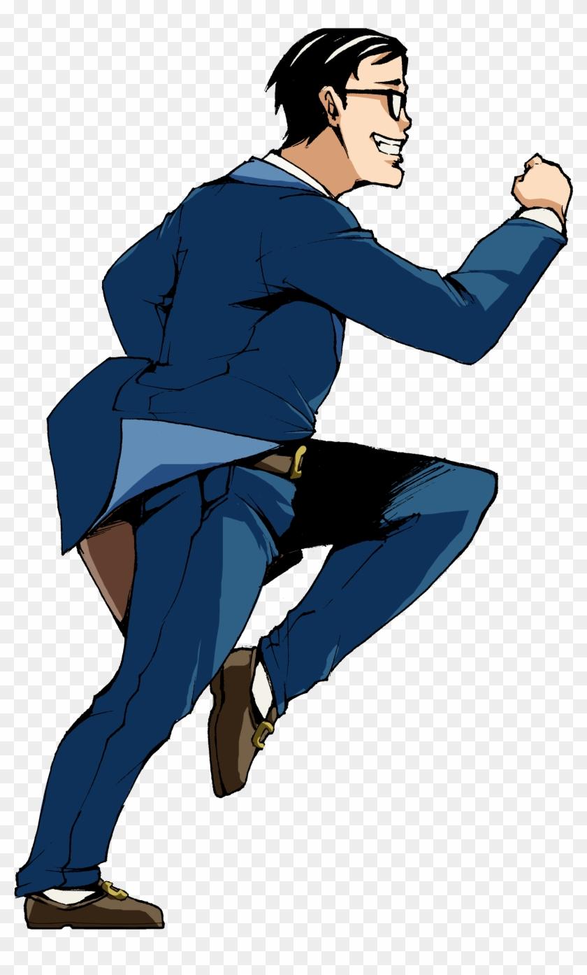Joannime07elric Running Man In Suit 2 By Joannime07elric - Cartoon Man In Suit Running #62054