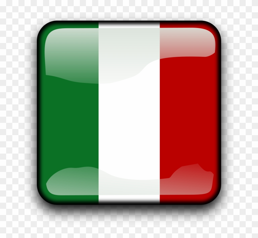 Italy Clip Art - Italy Glossy Flag Large Tote Bag, Adult Unisex, Natural, #62091