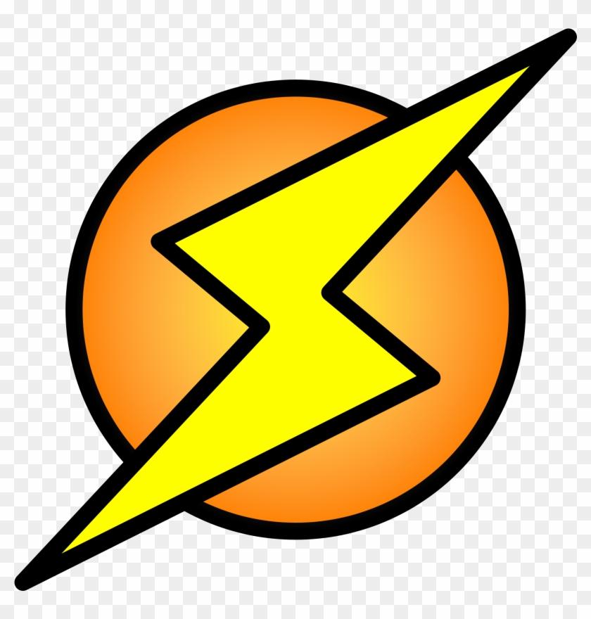 Lightning Bolt On Circle - Lightning Bolt In A Circle Logo #62109