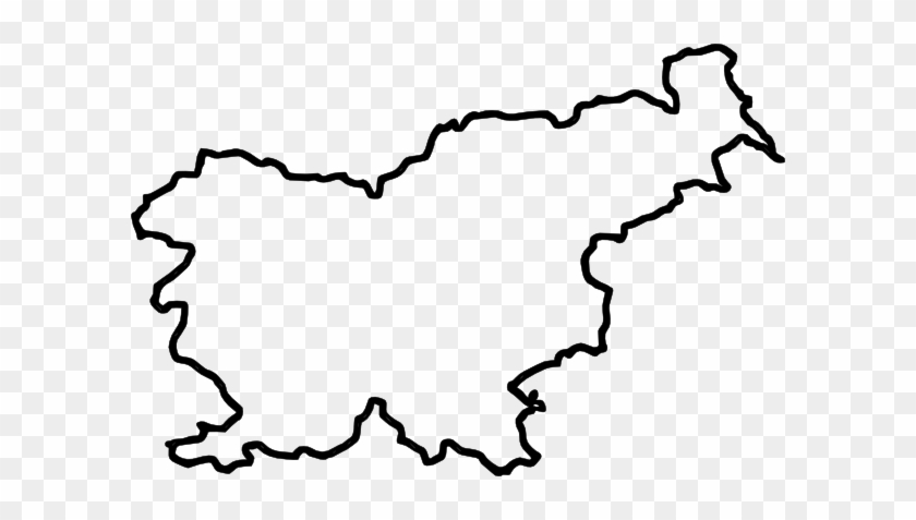 Free Vector Map Of Slovenia Clip Art - Europe Clipart Black And White #62169