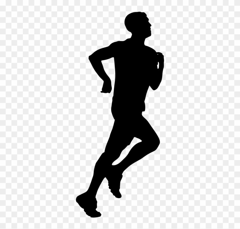 Jogging Running Man Boy Male Human People Person - Running Man Clip Art #62219
