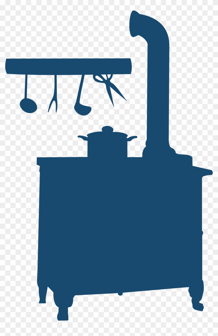 Old Fashion Silhouette Clip Art - Wood Stove Silhouette #62252
