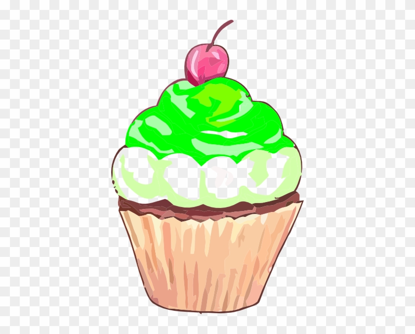 Free Green Cake Cliparts, Download Free Clip Art, Free - Cupcake Clipart #62254