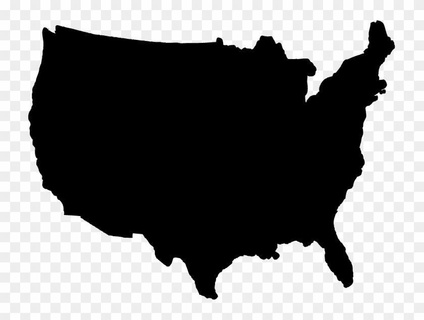 Us Map Clipart Transpatent - United States Map Shape #62312