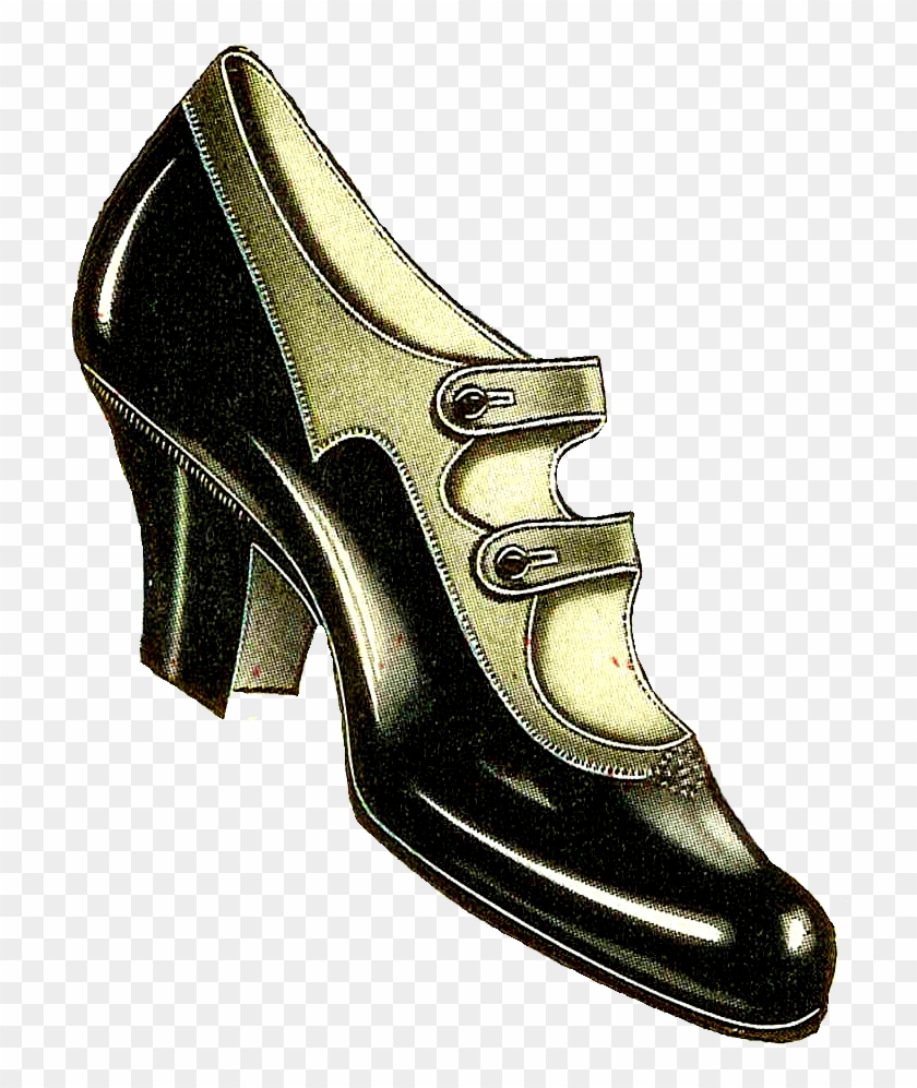 Shoe Clipart Old Fashioned - Vintage Clothing #62345