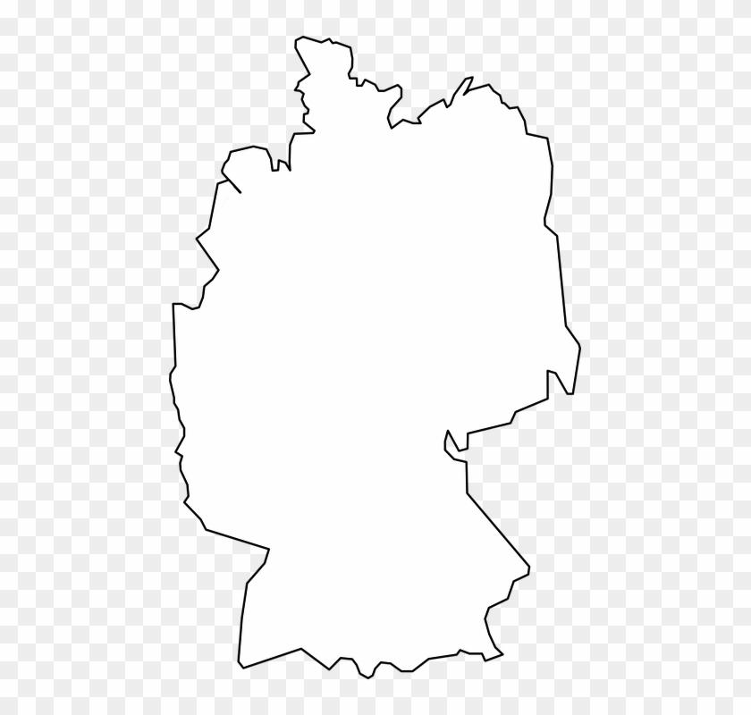 Kostenlose Vektorgrafik Deutschland Karte Umriss - Germany Map White Png #62348