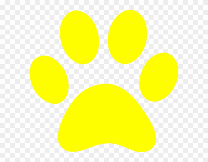 Yellow Paw Print Clip Art At Clker Vector Clip Art - Yellow Paw Patrol Paw Prints #62369