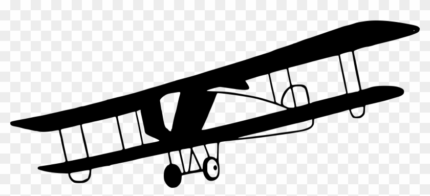 Vintage Biplane Png Clipart - Old Airplane Black And White #62452