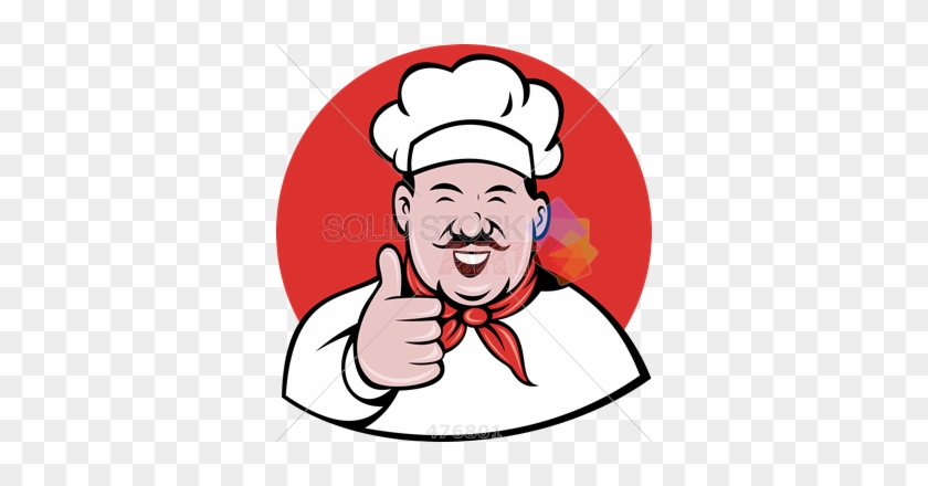 Stock Illustration Of Old Fashioned Cartoon Rendition - Chef Thumbs Up Vector #62480