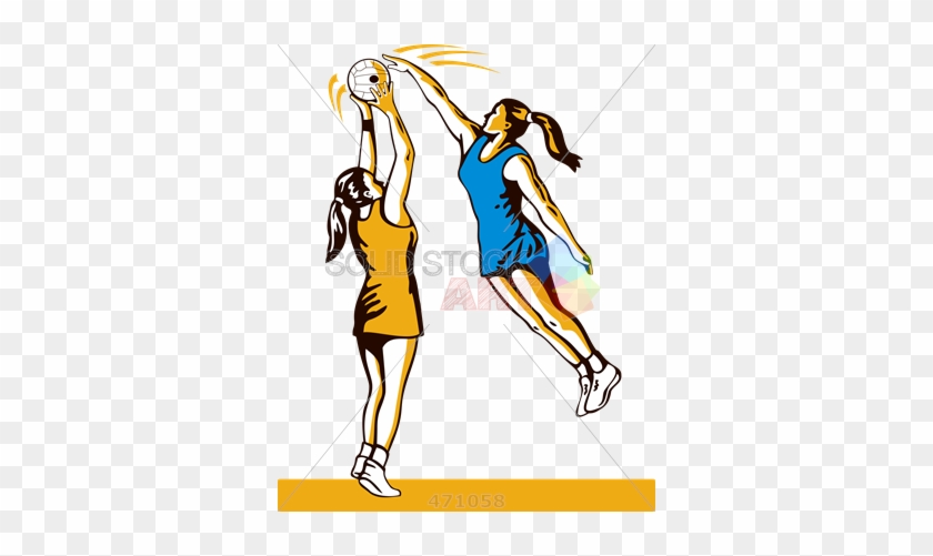 Stock Illustration Of Old Fashioned Cartoon Drawing - Sprint Dodge In Netball #62541