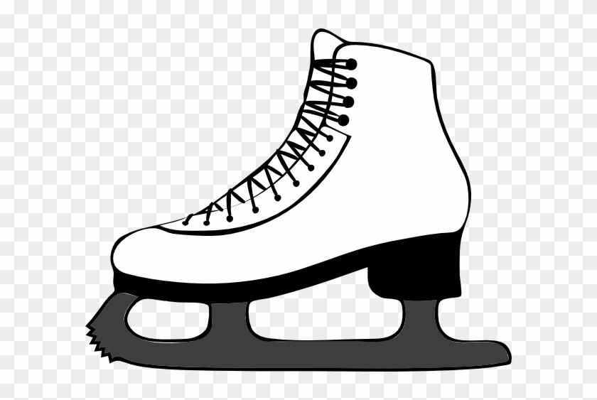 Ice Skate Side View Clip Art - Figure Skate Clipart #62546
