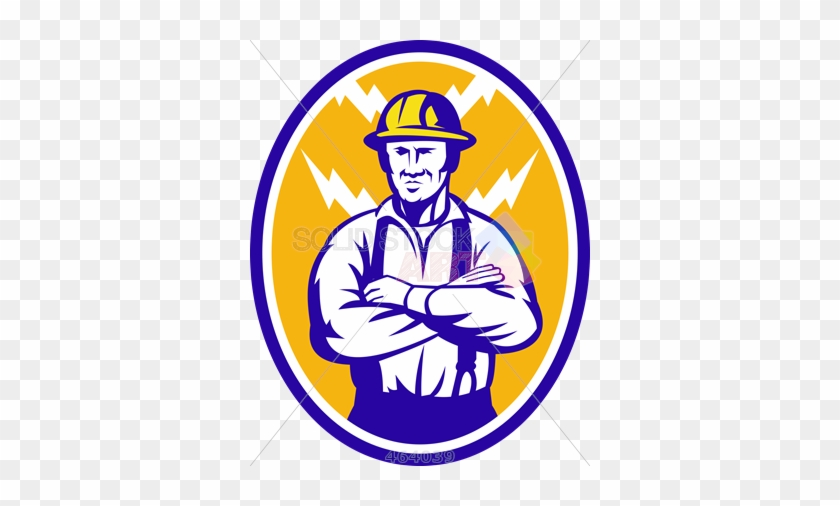Stock Illustration Of Old Fashioned Cartoon Rendition - Construction Worker Logo #62562