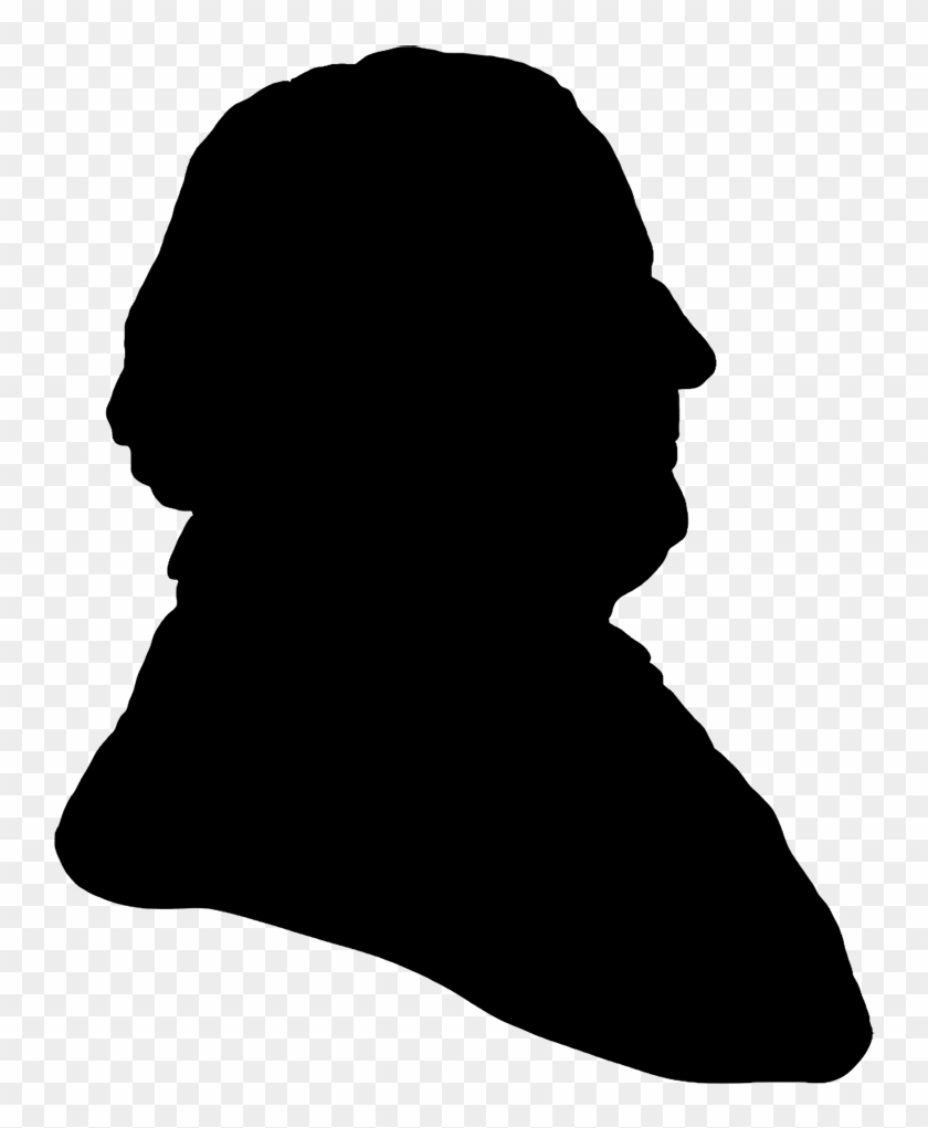 Victorian Gentleman Profile - Old Man Head Silhouette #62598
