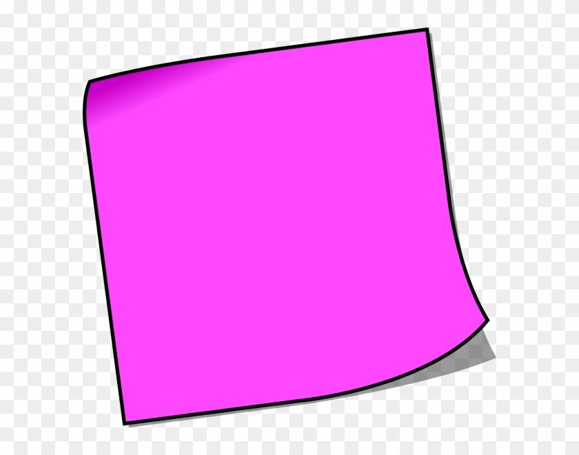 Clipart Info - Purple Post It Notes #62606