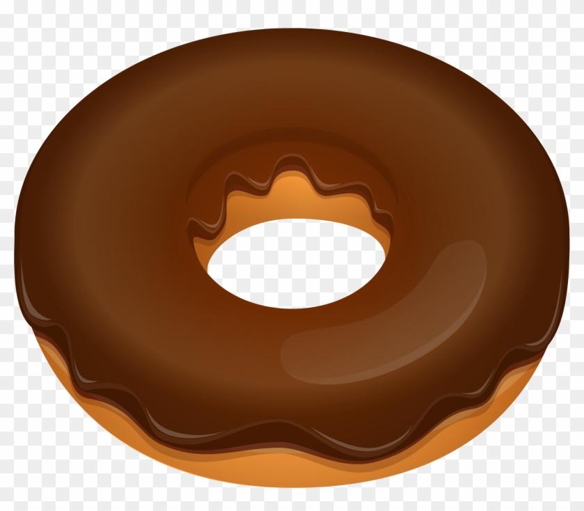 Donut Clipart Biezumd - Chocolate Donut Clipart #62634